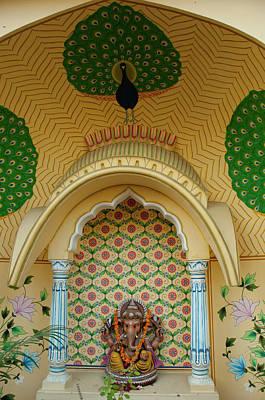 Small Shrine To Ganesh, Jaipur Poster by Inger Hogstrom