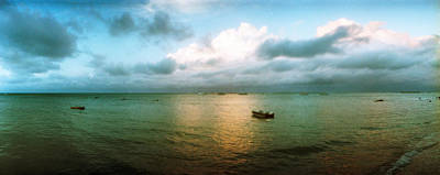 Small Wooden Boat In The Ocean, Morro Poster by Panoramic Images