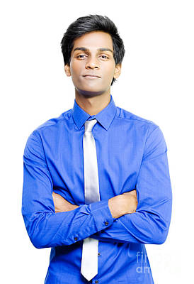 Smiling Young Asian Male Business Person Poster by Jorgo Photography - Wall Art Gallery
