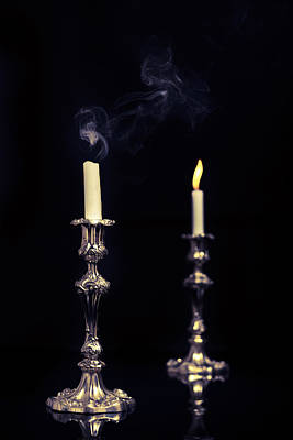 Smoking Candle Poster by Amanda Elwell