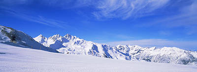Snow Covered Alps, Schonjoch, Tirol Poster