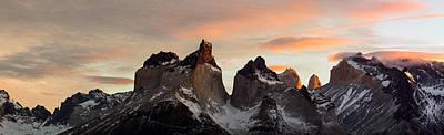 Snowcapped Mountain Range, Paine Poster