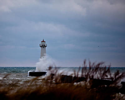 Poster featuring the photograph Sodus Point Lighthouse by Chris Babcock