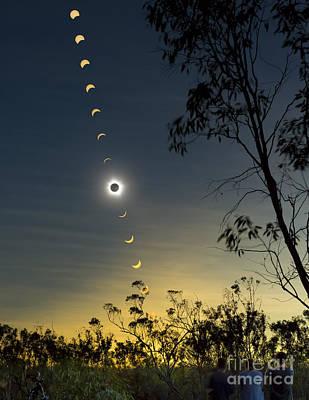 Solar Eclipse Composite, Queensland Poster