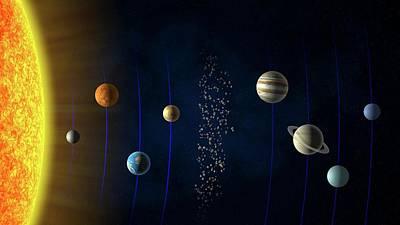 Solar System Poster by Andrzej Wojcicki