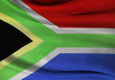 South African Flag  Poster by Les Cunliffe