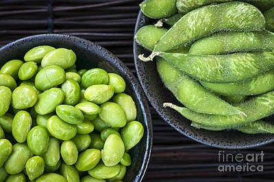 Soy Beans In Bowls Poster by Elena Elisseeva