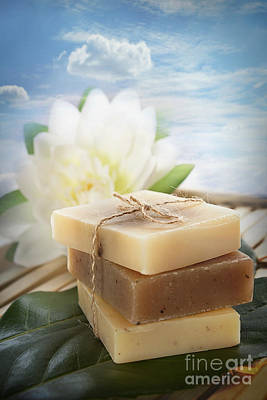 Spa Natural Soaps Poster by Mythja  Photography