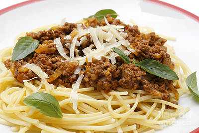 Spaghetti Bolognese Close-up Poster by Paul Cowan