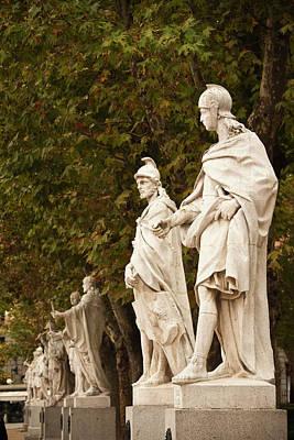 Spain, Madrid, Centro Area, Plaza De Poster by Walter Bibikow