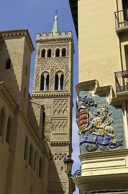 Spain. Zaragoza. Church Of San Gil - � Poster by Everett