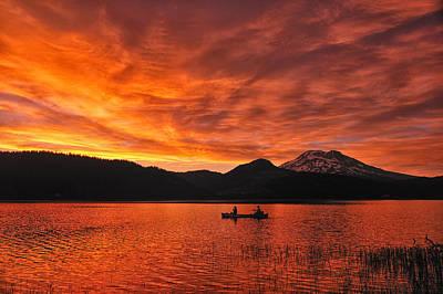 Sparks Lake Sunset Poster