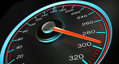Speedometer Fast Speed Poster
