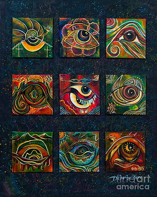 Poster featuring the painting Spirit Eye Collection II by Deborha Kerr