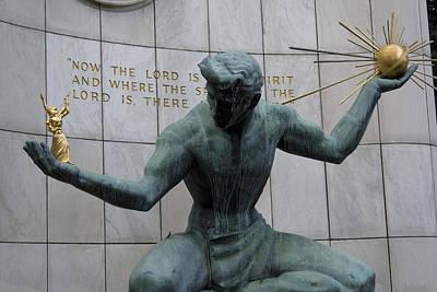 Spirit Of Detroit Poster