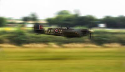Spitfire Speeding Poster by Jason Green
