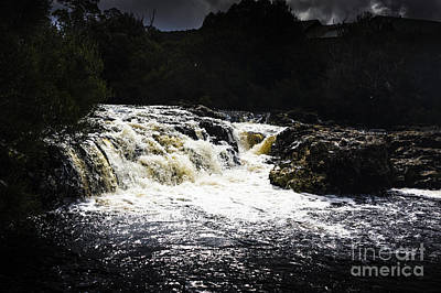 Splashing Australian Water Stream Or Waterfall Poster by Jorgo Photography - Wall Art Gallery