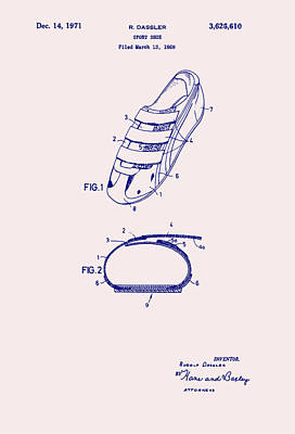 Sport Shoe Patent 1971 Poster