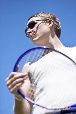 Sporting A Racquet Poster by Jorgo Photography - Wall Art Gallery