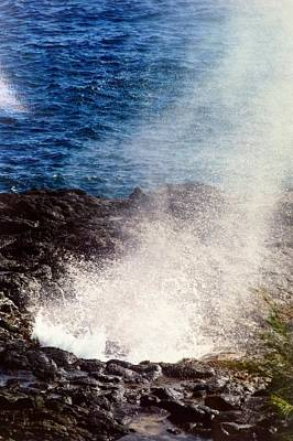 Poster featuring the photograph Spouting Horn by Alohi Fujimoto