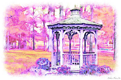 Spring Gazebo Series - Digital Paint Vi Poster by Debbie Portwood