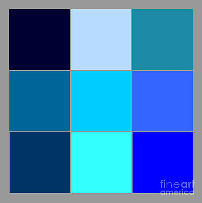 Squares - Blue Poster by Celestial Images