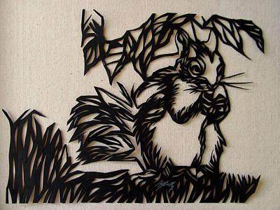 Squirrel Paper Cut Poster