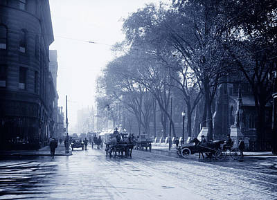 St Catherine Street - Montreal 1910 Poster