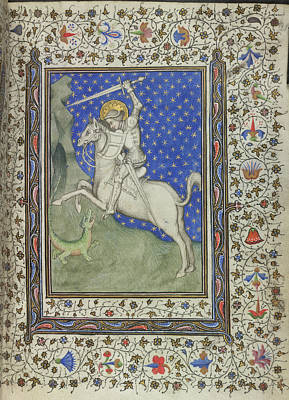 St George And The Dragon Poster by British Library