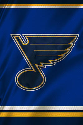 St Louis Blues Uniform Poster by Joe Hamilton