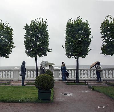 St. Petersburg In The Rain - Russia Poster by Madeline Ellis