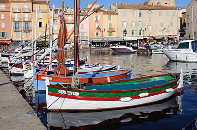 Poster featuring the photograph St. Tropez - France by Haleh Mahbod