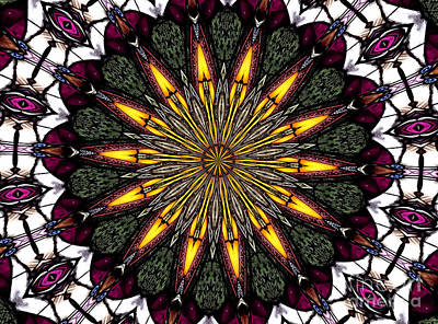 Stained Glass Kaleidoscope 1 Poster by Rose Santuci-Sofranko