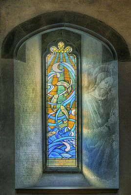 Stained Glass Window Art Poster by Ian Mitchell
