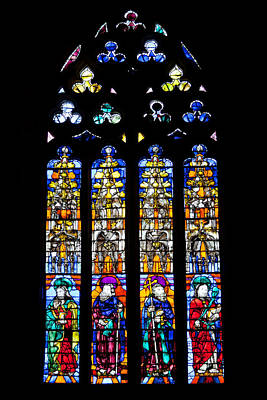Stained Glass Window In The Seville Cathedral Poster by Artur Bogacki