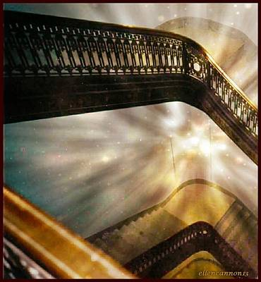 Stairway To Heaven Poster by Ellen Cannon