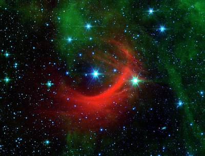 Star Shock Wave Poster by Nasa/jpl-caltech