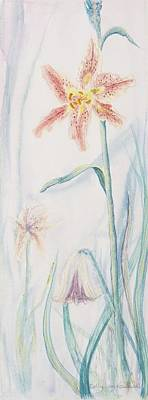 Poster featuring the painting Stargazer Lily by Cathy Long