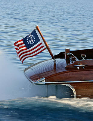 Stars And Stripes On The Water Poster by Steven Lapkin