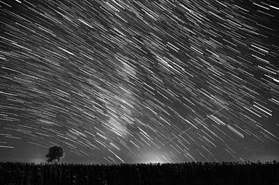 Startrail In Alentejo Poster by Andre Goncalves