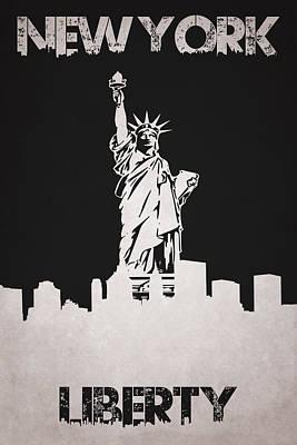Statue Of Liberty Poster by Joe Hamilton