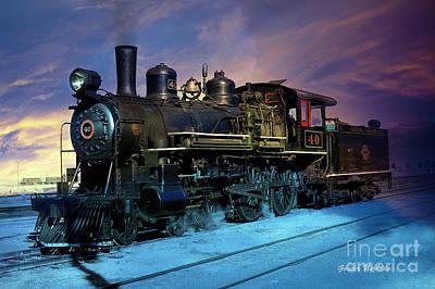 Steam Engine Nevada Northern Poster by Gunter Nezhoda