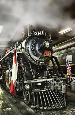 Steam Locomotive 2141 Poster by Theresa Tahara