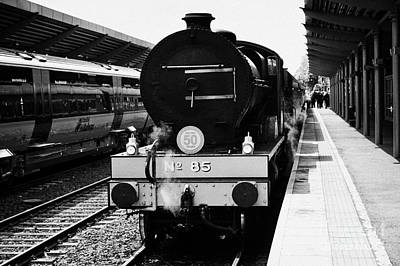 Steam Locomotive Train At Bangor Station Northern Ireland Poster by Joe Fox