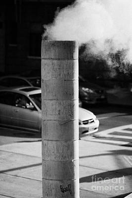 Steam Pipe Vent Stack New York City Poster