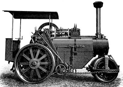 Steam Road Roller Poster