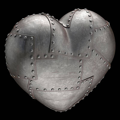 Steel Heart With Rivets Poster by Ktsdesign