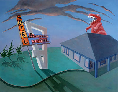 Poster featuring the painting Stevenson Motel by Sally Banfill