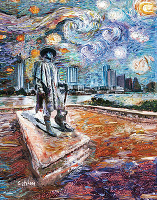 Stevie Ray Gogh Poster by GretchenArt FineArt