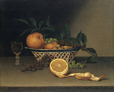 Still Life With Oranges Poster by Raphaelle Peale